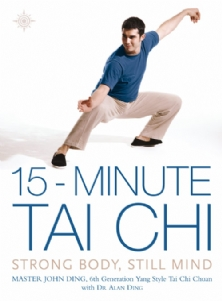 Michael featured on the front cover of Master Ding's book 15 Minute Tai Chi
